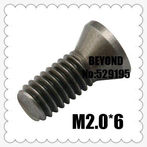 50pcs M2 0 6mm Insert Torx Screw for Replaces Carbide Inserts CNC Lathe Tool