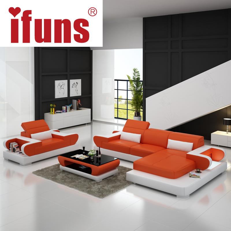 Ifuns Sofas For Living Room Large Corner Sofa Modern Design L Shaped Sectional Sofa Genuine