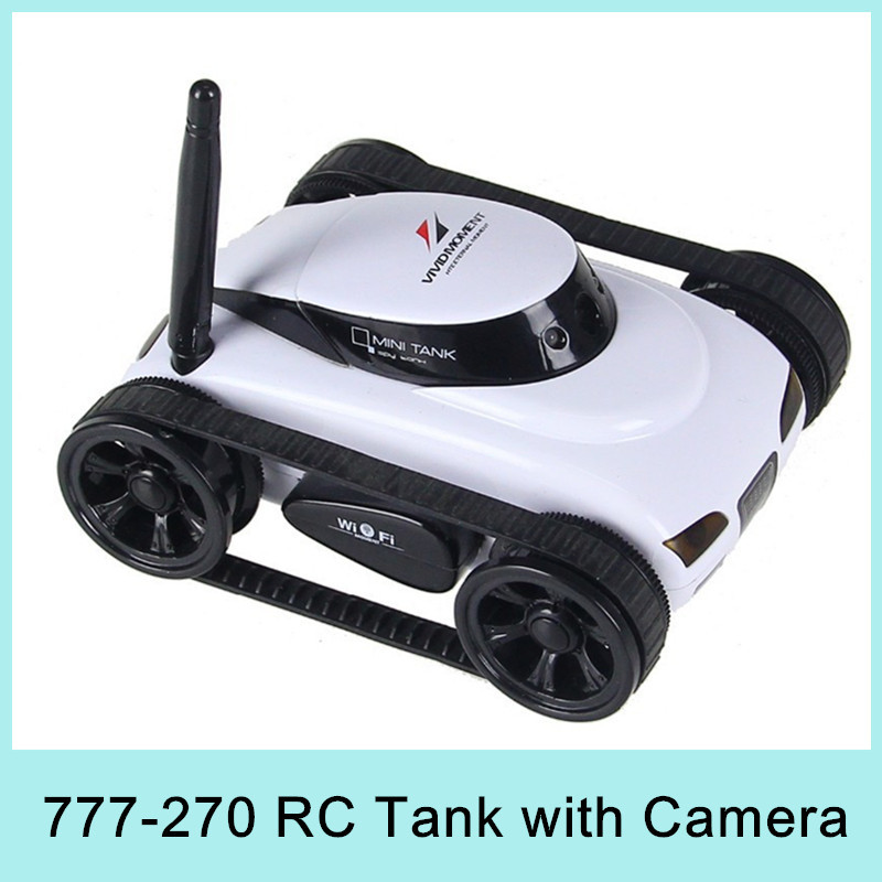Mini i-Spy 4CH RC Tank Controlled by IPhone/iPad/Android/IOS Wifi Camera Remote Control Toys 777-270 Best Gift HOT SALE 2015(China (Mainland))