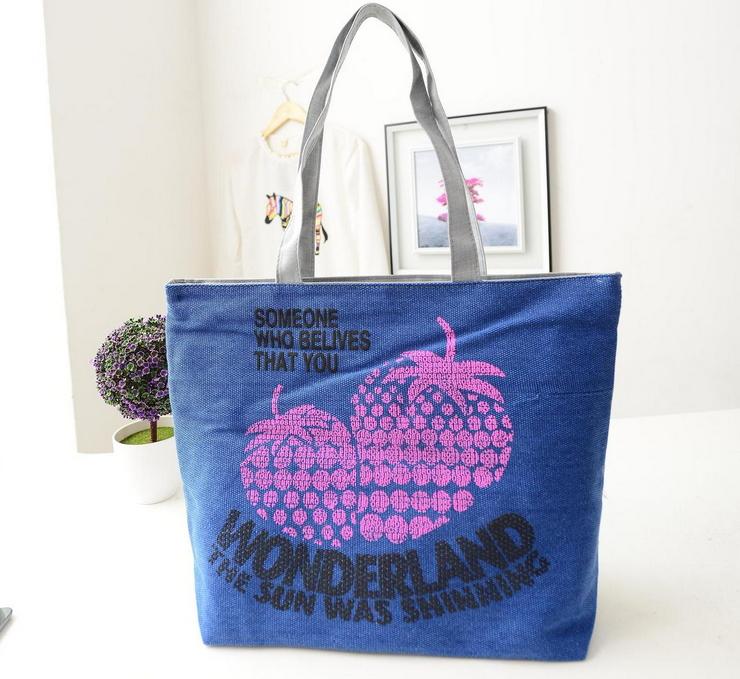 fashion canvas bag handbag women's handbag 2014 women's tote retail wholesale factory price TD-7(China (Mainland))