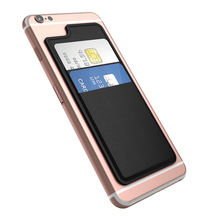 "dodocool Ultra Thin PU Leather Self Adhesive Credit Card Holder Sticker 2 Slot Wallet Pouch Case Sleeve for iPhone 6 6s 4.7""(China (Mainland))"