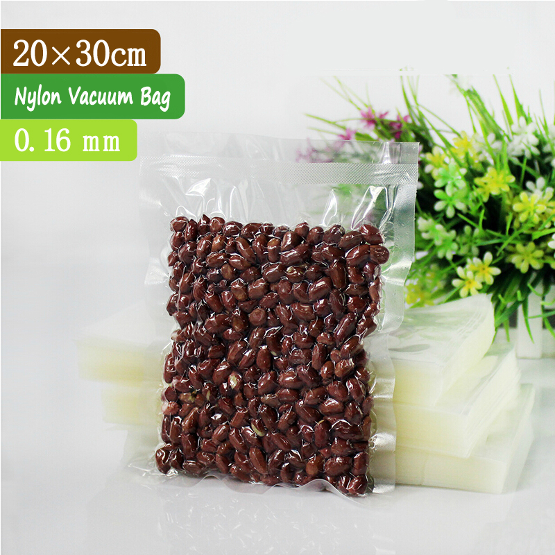 100 pcs 20x30cm 0.16mm PA + PE Clear Food Vacuum Sealer Bags / Vacuum Bags Online / Vacuum Compressed Bag(China (Mainland))