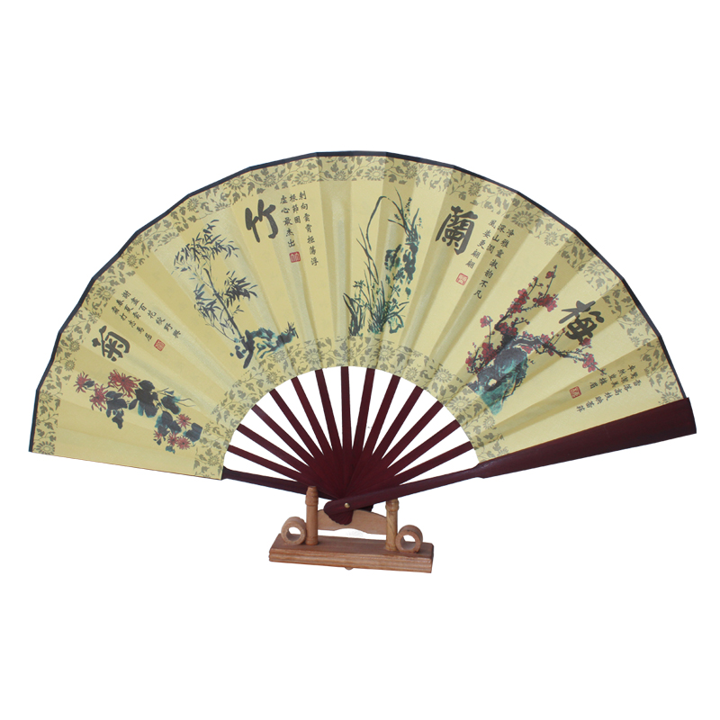 Buy chinese bamboo folding hand fan wedding leque decorative wall fans - Wall fans decorative ...