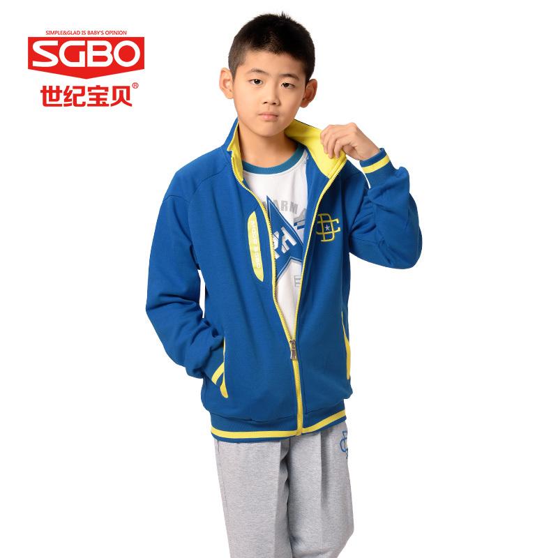 2pcs Zipper Coat+Pants 150-165cm Children Tracksuits Kids Blue Boys School Suit Kid Sport Set Boy Clothes Jogging Enfant 8D5890A(China (Mainland))