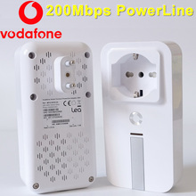 Vodafone MFG10038-0A 200 Mbps PowerLine Adapter Mini PowerLine HomePlug AV Netzwerk Ethernet Adapter Extender PLC Adapter für IPTV(China (Mainland))