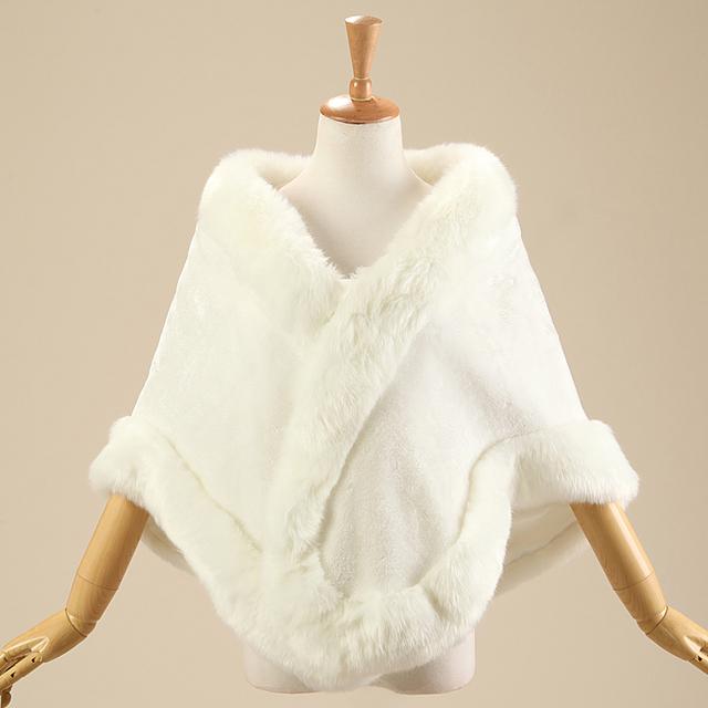 manteaux formelles de mari e wraps et vestes fabuleux manteau de fourrure femmes bolero hiver. Black Bedroom Furniture Sets. Home Design Ideas