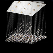 Square Pyramid Design Crystal Ceiling Light Fixture Modern Crystal Lamp Lustres Light Fitting Stair Light GU10 Bulb Included(China (Mainland))