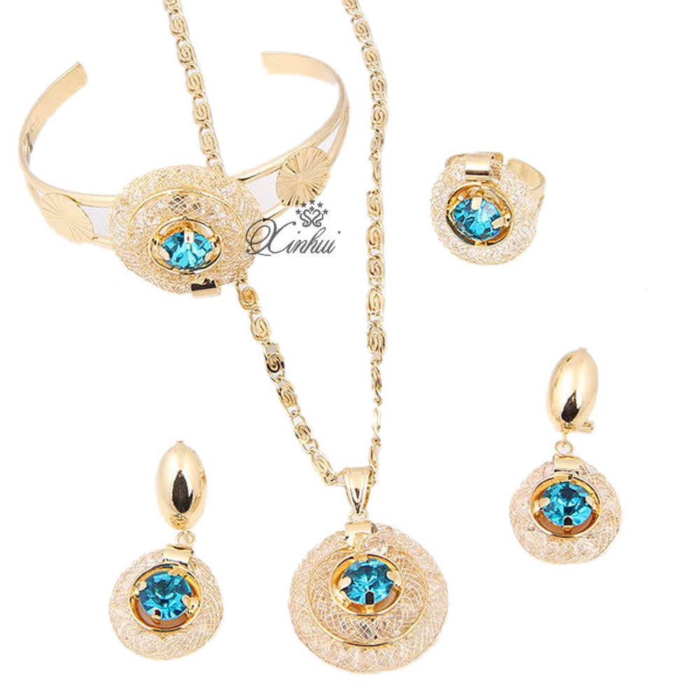 sale costume jewelry sets18k gold plated meshy