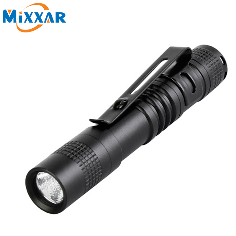 zk90 Outdoor Pocket Portable LED Flashlight Torch Lamp 1 Mode 250LM Pen Light Waterproof Penlight with Pen Clip(China (Mainland))