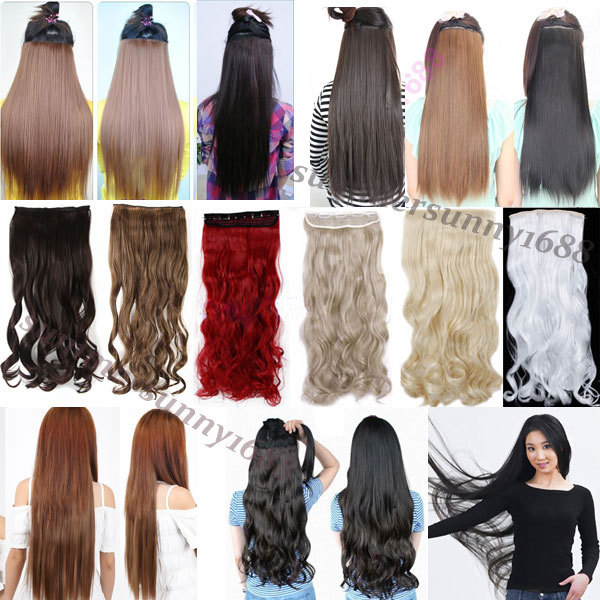 "FACTORY PRICE 18-28"" 45-70CM 100% Real Natural Hair Extention 3/4 Full Head Clip in Hair Extensions Curly/Curly US UK Fast SHIP(China (Mainland))"