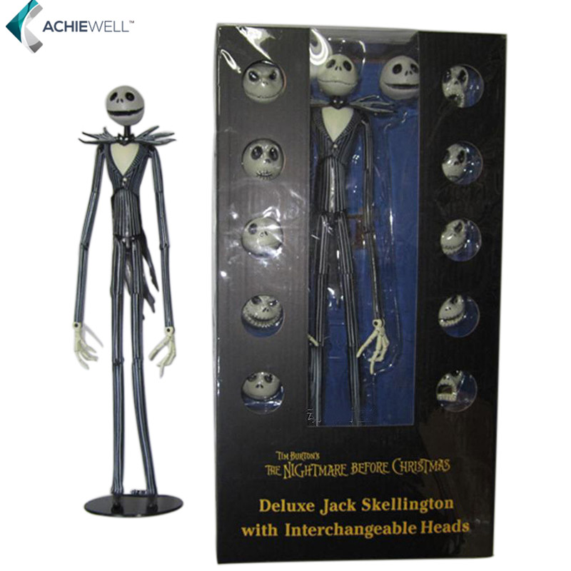Movie The Nightmare Before Christmas Deluxe Jack Skellington Action Figure Fan Collectible Model Gift For Children Adults<br><br>Aliexpress