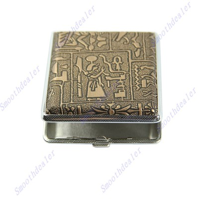 Egyptian Style Hard Metal Cigarette Box Case Holder For 20 Cigarettes(China (Mainland))