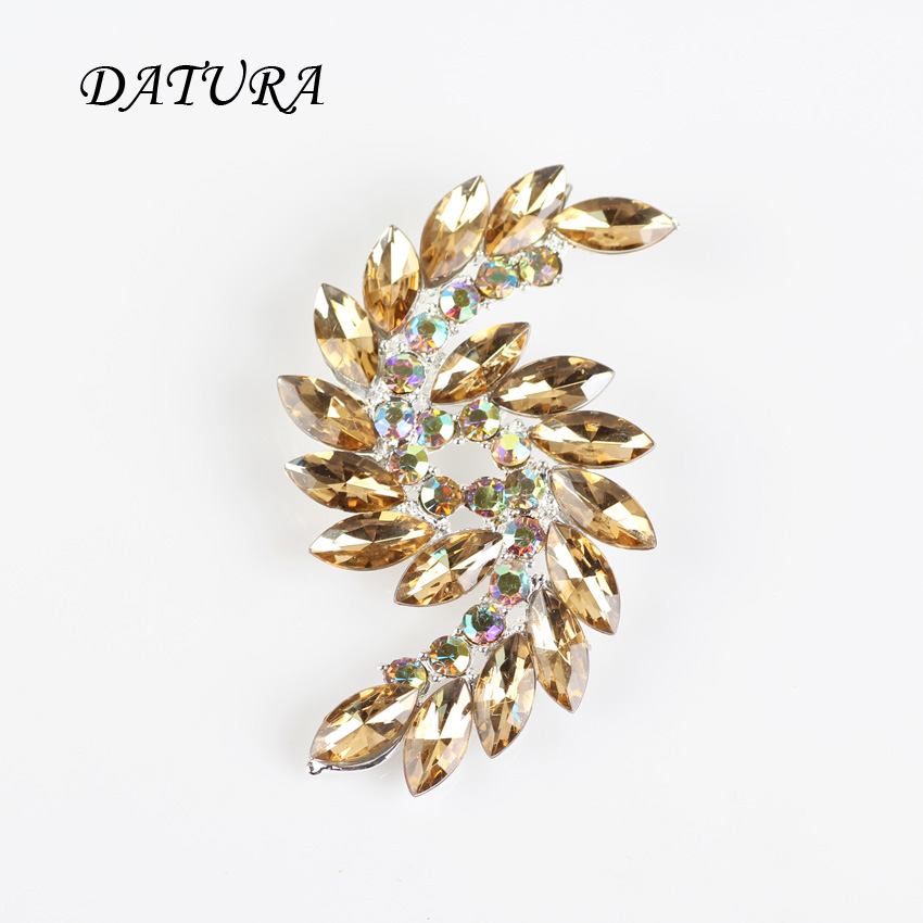 6 colors European and American fashion jewelry gold crystal wing brooch accessories wholesale trade sales hot style.(China (Mainland))