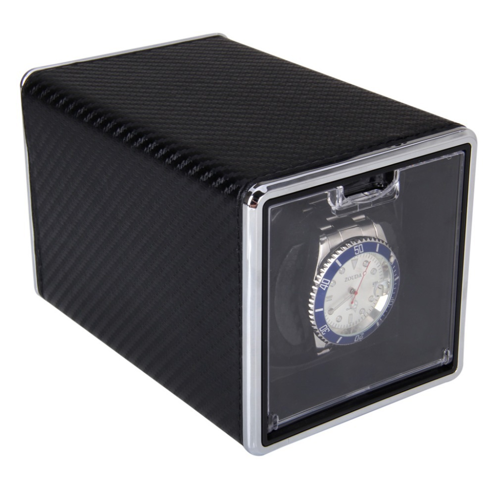 High Quality New Arrival Black Automatic Single Watch Winder Rectangle Mute Box For Watches Gift(China (Mainland))