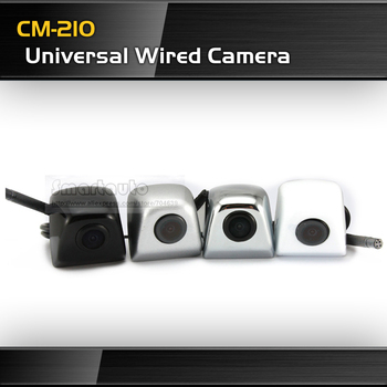 CM-210 4 colors for choice 100% waterproof wired Glass lens CCD  Universal Parking Camera Frontview Rearview Pixels 728*582