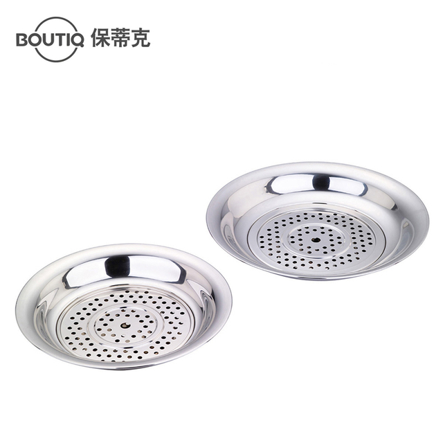 Dumpling dish twinset multifunctional drain tray stainless steel plate fruit plate