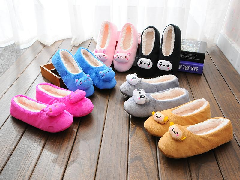 Free shipping Hot Selling Lovely Home Floor Soft Slippers Outsole Cotton-Padded Bow Shoes Female Cashmere Warm Casual Shoes<br><br>Aliexpress