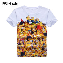 Children Kids Girls Boys T-Shirts Fashion Pirnt Minions And Zootopia Boy Clothing Child Baby Girl Clothes Top & Tees