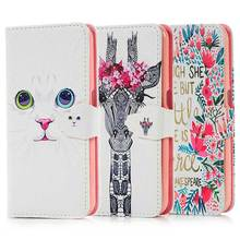 Fashion Top Quality Painted Leather Flip Wallet Cover Case for Samsung Galaxy S6 G920 Phone Bags with Card Slots Stand Holder(China (Mainland))