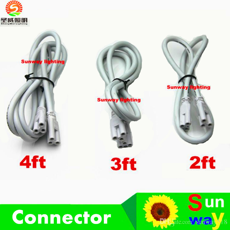 1ft 2ft 3ft 4ft 5ft Cable for Integrated T8 T5 led tubes lights Connector led extension cord CE ROHS UL DLC(China (Mainland))