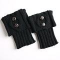 1 Pair Knitted Socks Leg Warmers Women Boot Cuffs Socks 8 Colors Elastic Legwarmers gaiters calentadores