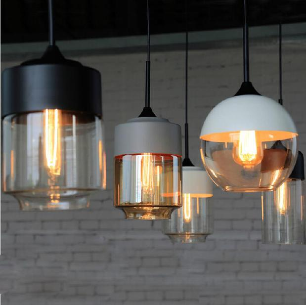 Light Bulb Pendant Light Iron Glass Restaurant Pendant