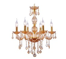 Ship From US Venetian Style Crystal Chandelier Light Fashion Crystal 6 Lights Modern Chandelier ceiling Light 25(China (Mainland))
