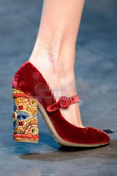 heel shoe Picture - More Detailed Picture about Red wine velvet ...