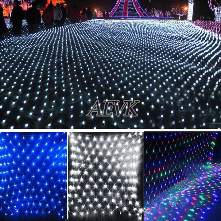 New 2014 2M x 2M 144leds LED Festival Net String Light Fairy Lights Christmas Xmas Party Wedding EU Plug 30(China (Mainland))