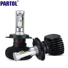 S1 Partol H4 9003 HB2 H7 H11 CSP LED Car Headlight Kit 50W 8000LM Single Hi Lo Beam CREE Chips Headlamp Fog Light Bulbs 12V 24V(China (Mainland))