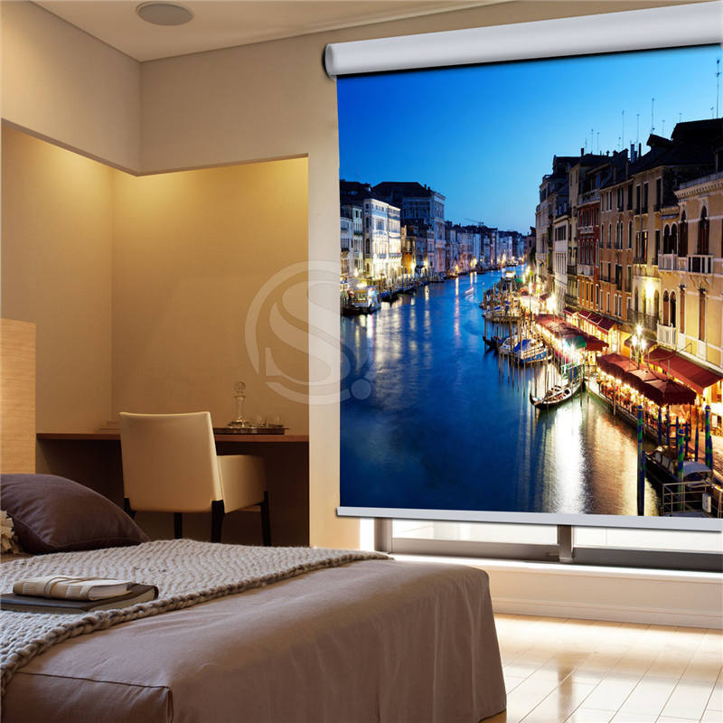 7-12#140 Custom the grand canal venice italy !~i Europe Style Blinds Shutter Bead Rope Curtain Blind for Bedroom J140(China (Mainland))