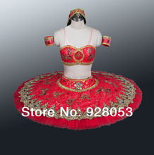 2014 New Arrival!red ballet tutu;adult professional tutu;classical tutu girls;Arab type tutu ballet AT0079 Free Shipping