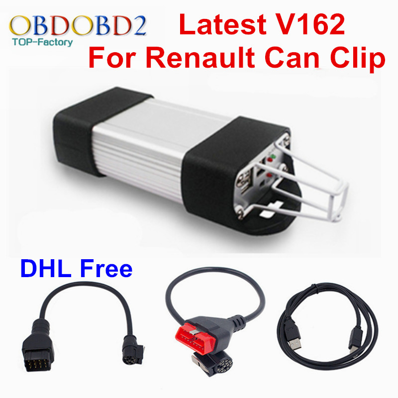 DHL Free For Renault CAN Clip V162 Auto Car Diagnostic Tool For Renault Vehicles Multi Languages For Renault Clip Scanner(China (Mainland))