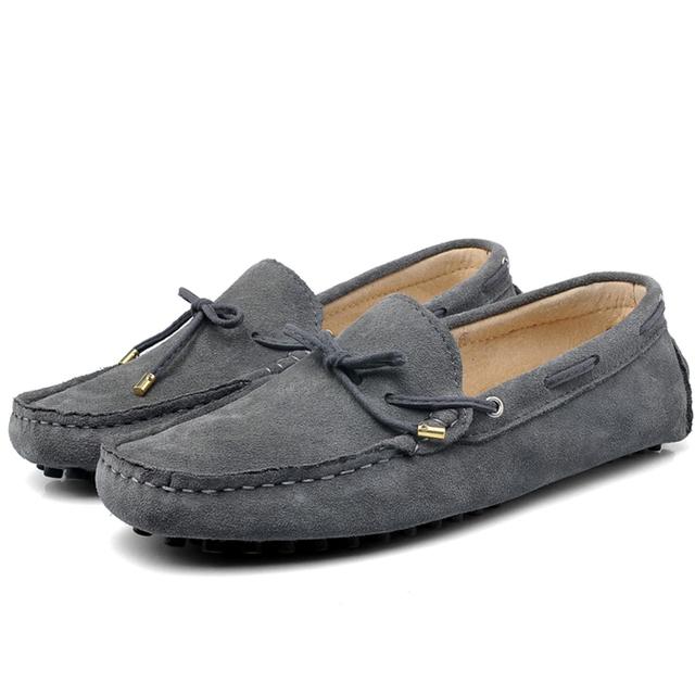 Весна Лето натуральная кожа мужчины обувь повседневная обувь для вождения мягкие ...