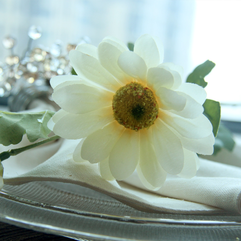 Fresh Style Artificial Daisy Flower Silk Flower Spring Daisy Home Decorations Countryside Living Room Simulate Flowers  1pc