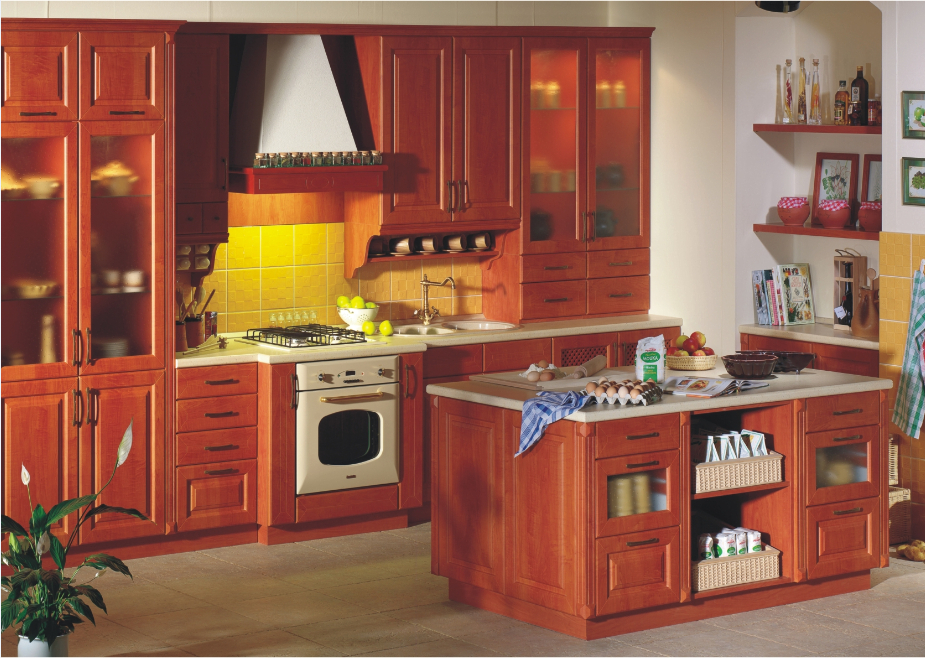 For Kitchen Solid Wood Modular Kitchen Cabinets Furniture Suppliers