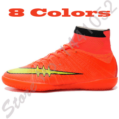 Mens Football Boots Elastico Superfly IC Botas Zapatillas De Futbol Sala High Ankle Cleats Soccer Shoes Indoor Chuteira Futebol(China (Mainland))
