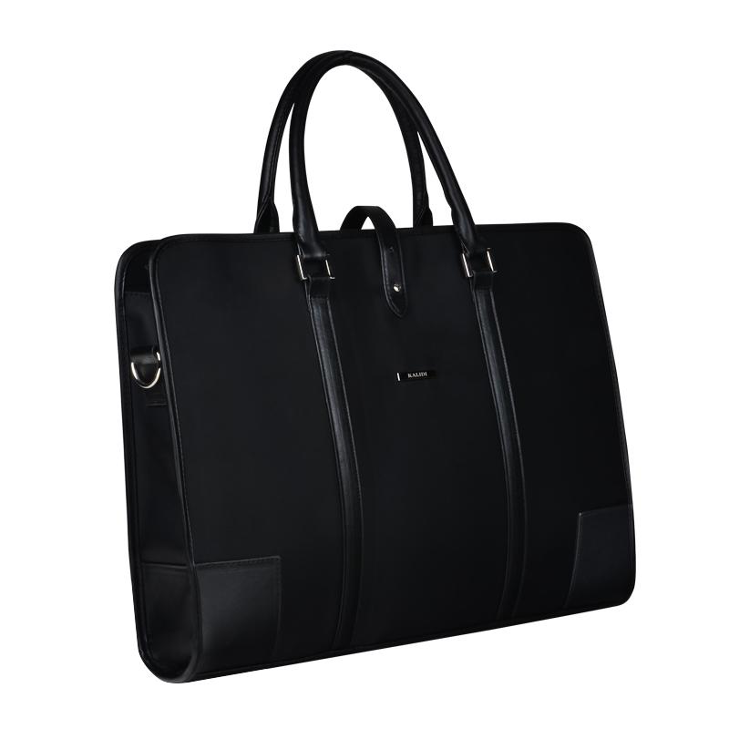Luxury Business Men's Briefcase Laptop Bag For 14 15 inch Notebook Computer Black Unique Work Trip Shoulder Messenger Handbag(Hong Kong)