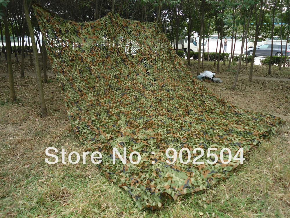2X3m Woodland Leaves Camouflage Net Hunting Tent Camping Jungle Camo Net For Military Car Drop Cloths