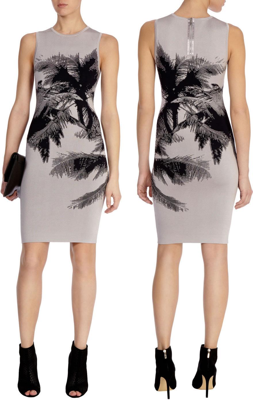 Fashion Women Palm Tree Print Dress Elegant Mini Party Dresses 6952Одежда и ак�е��уары<br><br><br>Aliexpress