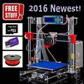 Бесплатная доставка высокое качество точность принтера reprap prusa версии 3 Сделай сам 3D принтер комплект 2 рулона нити 8 Гб карта SD и ЖК-220*220*180 мм