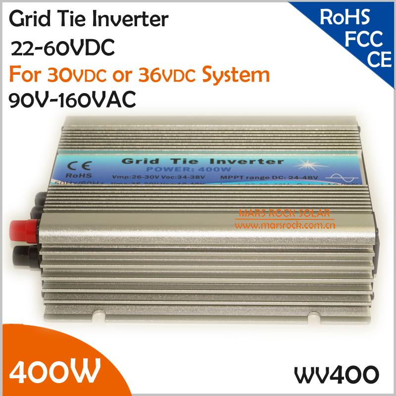 400W grid tie inverter , 22-60VDC 90-140VAC wide input voltage range inverter for 60 cells or 72 cells solar panel(China (Mainland))