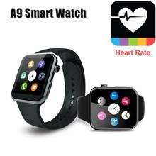 2015 новая bluetooth-смарт часы A9 монитор сердечного ритма A9 Smartwatch для Apple , iPhone и Samsung Android телефон