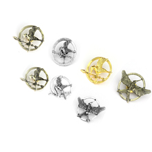 New fashion The Hunger Game Brooch Pin Ridicule Bird LOGO Retro gold brooches Pin badge men women Dress Accessory large brooches