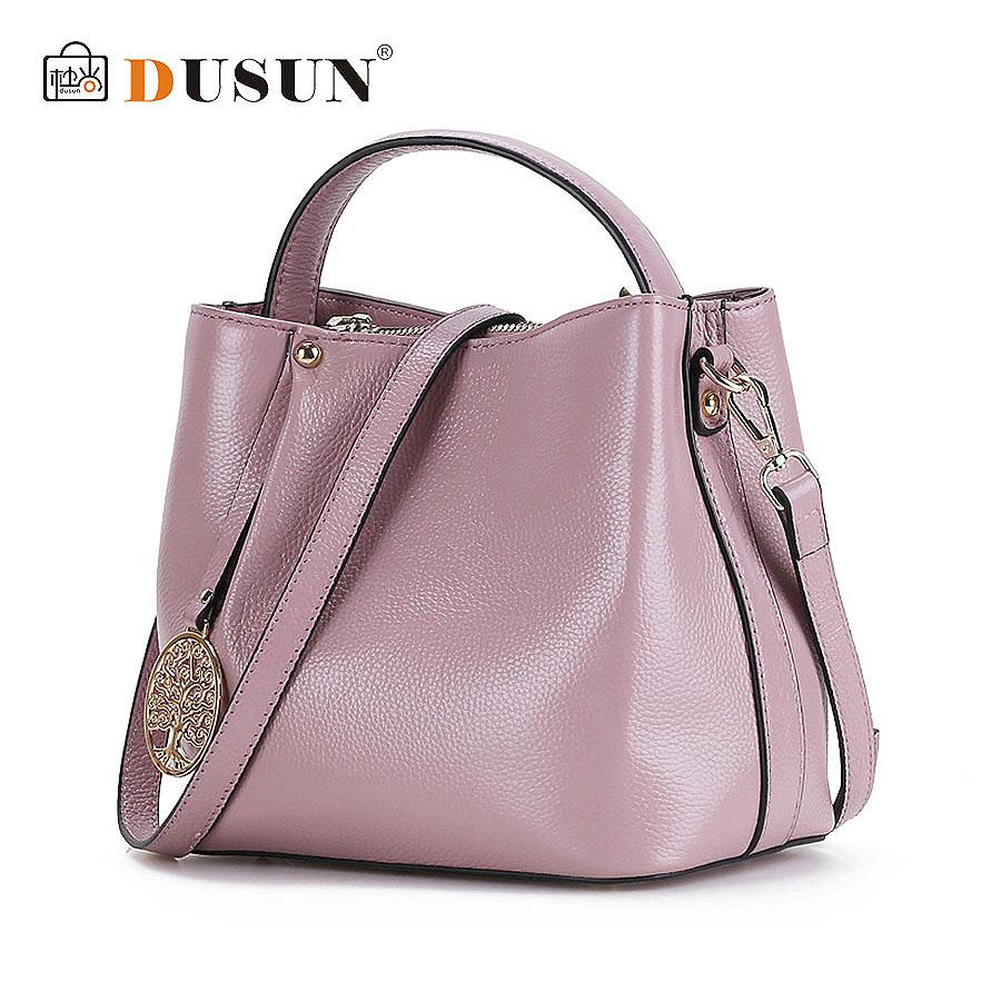 Hot Sale 2016 New Fashion Women Handbags Bucket Genuine Leather Bag Woman Leather Handbags Women Shoulder Bag Casual Tote YL06