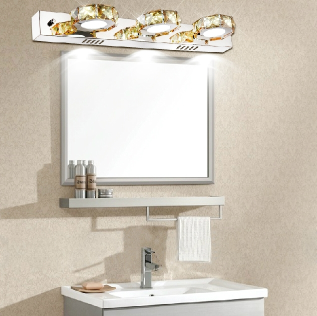 Stainless steel bathroom mirror lights LED crystal lamps bedroom crystal wall lamp Creative lights(China (Mainland))