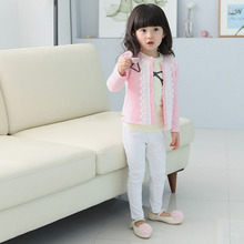 Fashion Sanwony baby clothing jacket children outerwear Girls Kids Lace Coat Long Sleeve Outwear Clothes