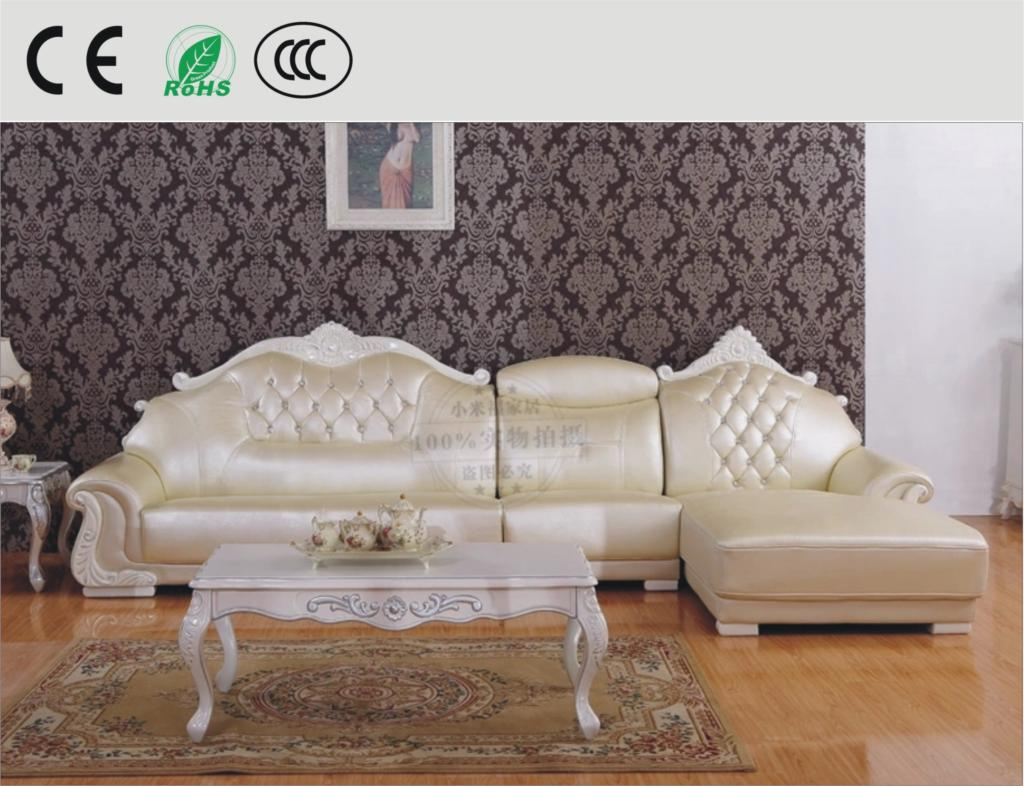 Cheap cowhide leather l shaped sofa continental sofa thick for Sofas de piel economicos