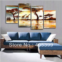 Free Shipping !! The Beautiful Africa!!  Real Handmade Modern Abstract  Oil Painting On Canvas Wall Art ,Z036