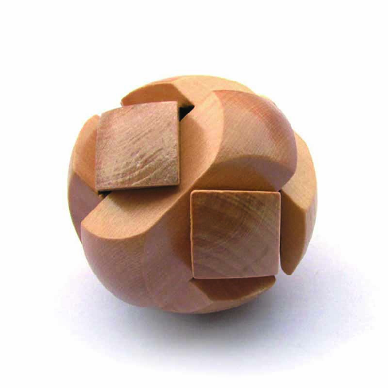 Puzzle Toys Space Intellect Ball Game Kids IQ Games Toys Chinese Traditional Wooden Puzzle Ming Luban Lock(China (Mainland))
